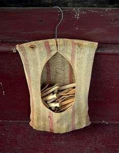 Clothespin Hanger: Clothing Pin Bags, Outdoor Clothing Line, Clothespins Bags, Memories, Clothes Pin Bags, Hanging Clothing, Old Clothing, Clothing Hangers, Clothespins Holders