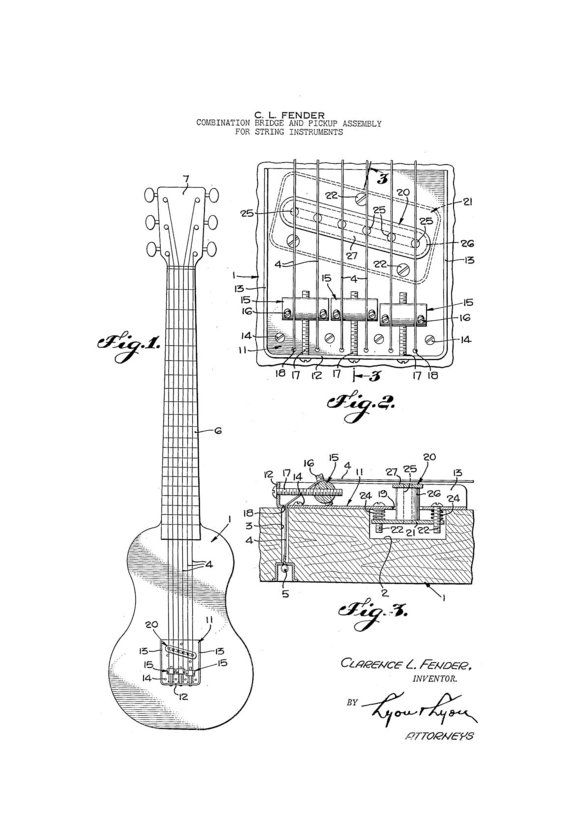 42 best images about guitar patents on pinterest