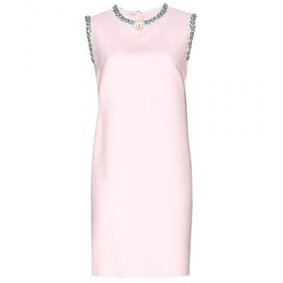 #covetmeMiu Miu - Embellished crepe dress #dress #miumiu #women #designer #covetme