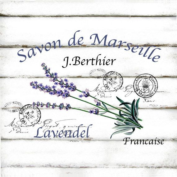 Vintage French Lavender Large A4 Instant Digital by CreatifBelle