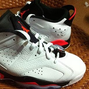 Air Jordan VI retro low infrared 23. Preview samples. Release details not  available yet