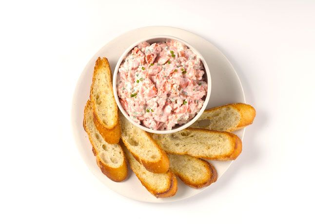 Salmon Rillettes: Sure, it's great for parties, but the joy of making this dish at home is eating it as many ways as possible. Try folding into an omelet, serving on a bagel like lox, or just scooping with veggies and crackers for an elegant light lunch.
