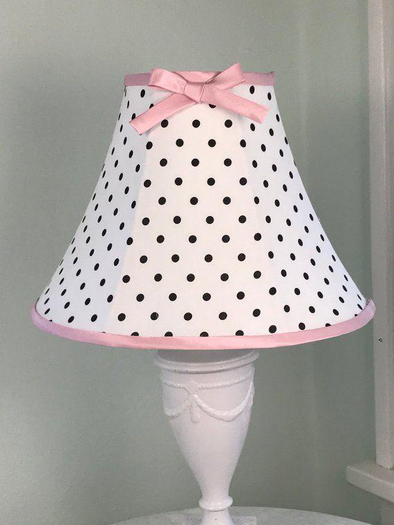 Polka Dot Lamp Shade Black And White Pink