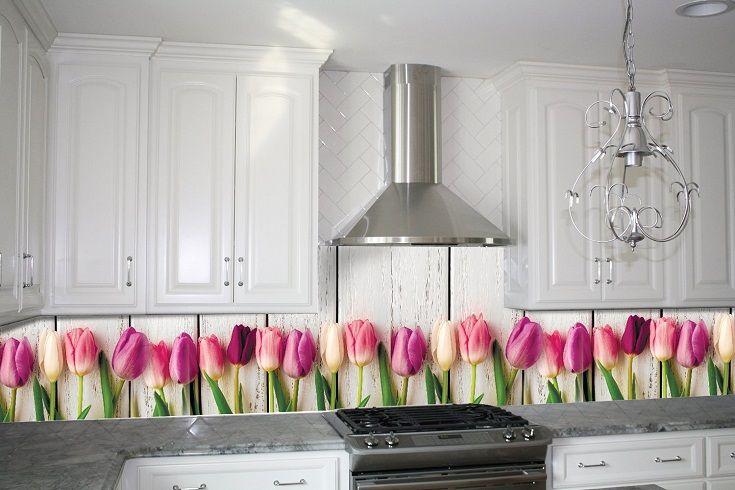 Кухонный фартук Тюльпаны. Цена 430 грн. Декор для ванной и кухни, декор и текстиль для кухни, декоративные наклейки, наклейки printable, наклейки на кухню, виниловые наклейки для кухни, декоративные наклейки на мебель.