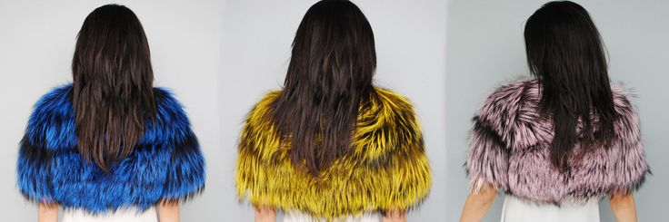 Add fun, vibrant pops of colour to warm up your Autumn #fur look!