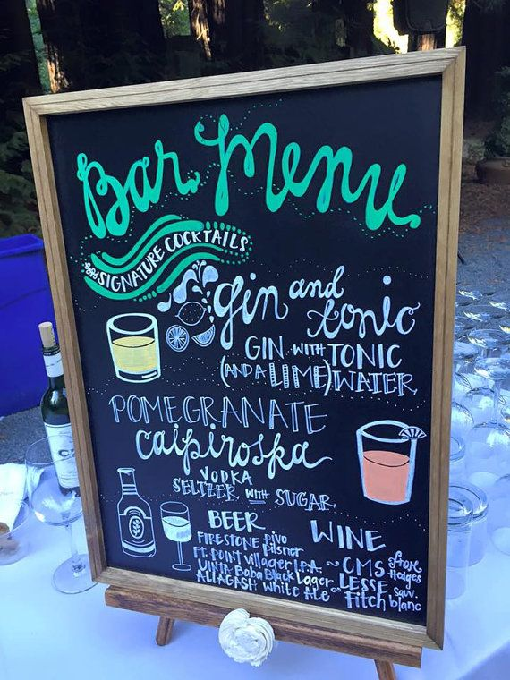 LARGE Wedding Chalkboard Rustic Wedding by CountryBarnBabe