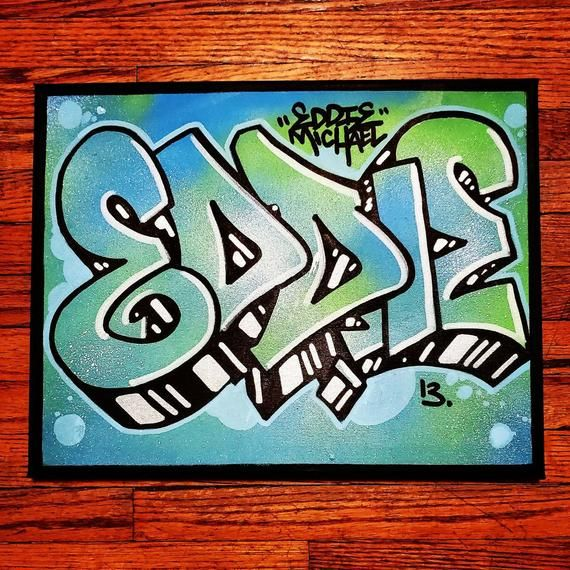 Custom Name Graffiti Canvas Wall Art Personalized Name Sign Etsy Graffiti Graffiti Wall Art Graffiti Art Letters