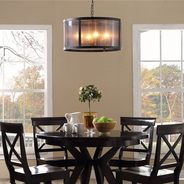 Frost Metal Chandelier Modern Ceiling Fixture Four E26 60W Bulbs Not Included Steel Coated