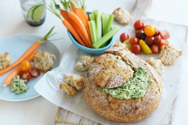 Catering for a crowd is easy with this vegetarian spinach cob loaf by taste member, 'jennybowen'.