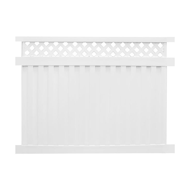 Weatherables Clearwater 6 Ft H X 6 Ft W White Vinyl