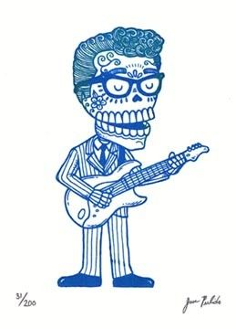 Love this Buddy Holly Calavera on Etsy