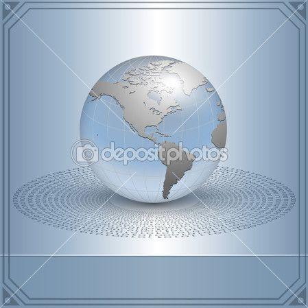 Fondo de negocios, tierra en nuevo concepto de tecnología, vector