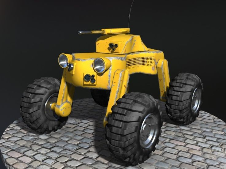 3D Small Drone Vehicle - 3D Model