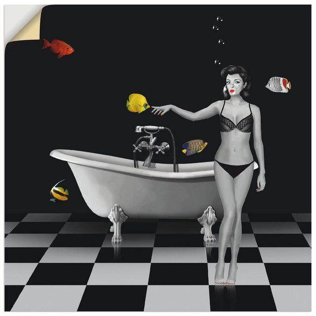 Wandfolie »Mausopardia: Ein Badezimmer für Fische«