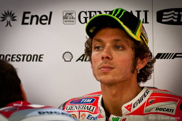 A pensive Valentino Rossi ponders his next move in MotoGP