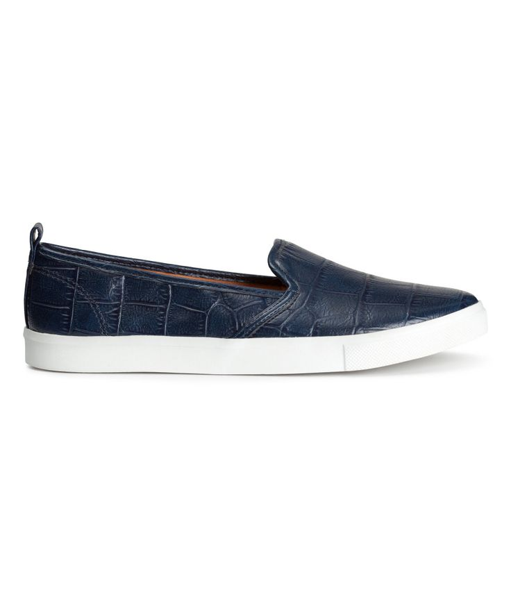 H&M navy blue slip on loafers