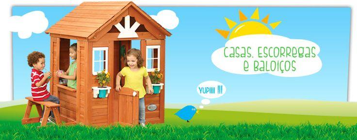 Casas, Escorregas e Baloiu00e7os - #Brinquedos de Exterior