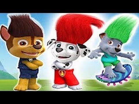 Paw Patrol Transforms Into Trolls Finger Family Nursery Rhymes - Vidinterest