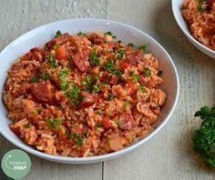 Voor een heerlijke Kip Jambalaya heb je geen pakjes nodig. Goede ingrediënten, een beetje liefde ♥ en een beetje tijd maken deze Kip Jambalaya overheerlijk!