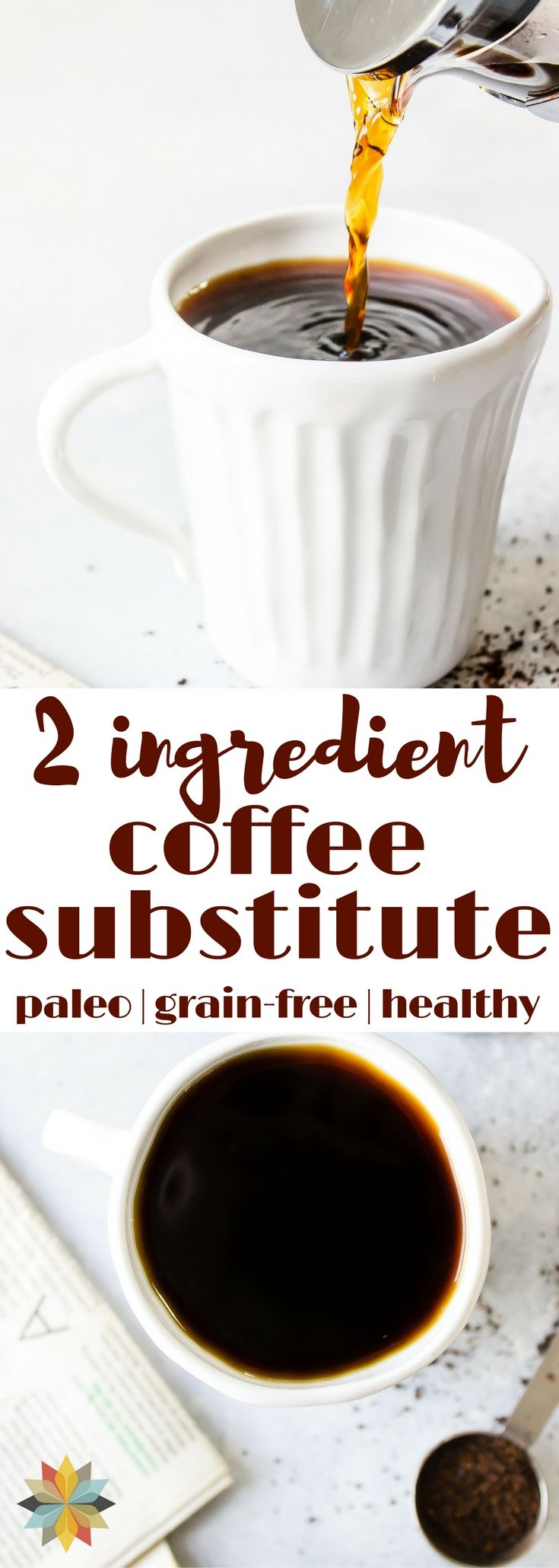 This coffee substitute is rich, delicious, and good for you! Great for those trying to break the coffee habit or as a decaf alternative. #paleo #aip #thm #lowcarb #glutenfree