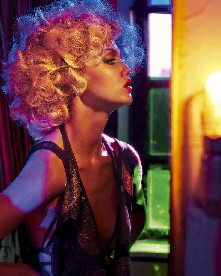 "Throwback Thursday | Model Lindsey Wixson (@lindseywixson) photographed by Sebastian Faena (@sebastian_faena) in ""Love Is Warmer Than Death"" for Interview Germany February 2014 (@interview_de). Stylist: @juliavonboehm | Hair: @akkishirakawa | Makeup: @frankieboyd. by fashionphotographyappreciation"