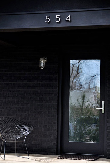 Color too dark, but like the hardware against the grey and the single lite entry door with nice lock set