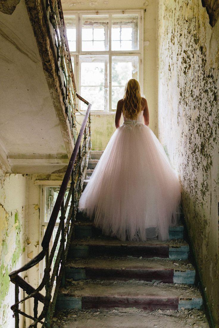 Ein #rosa #Tülltraum Brautkleid. Foto: Ben Kruse
