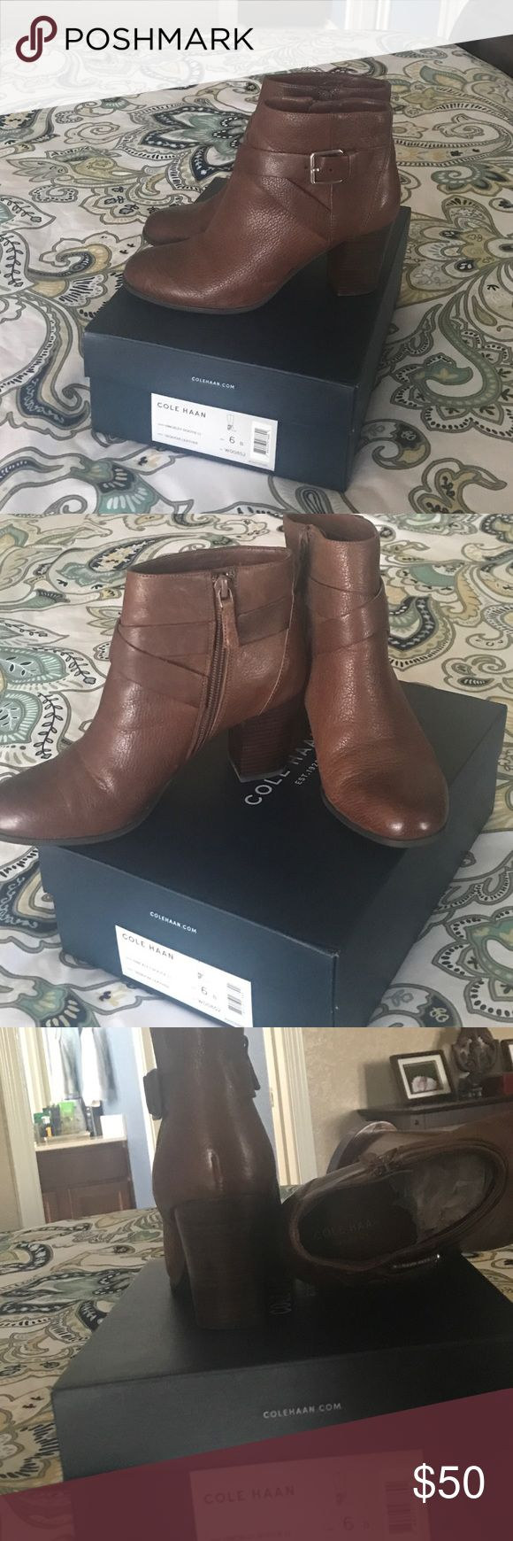 Cole Haan ankle boots. In brown leather. Cole Haan ankle boots. In brown leather. Worn twice. Great condition. Cole Haan Shoes Ankle Boots & Booties