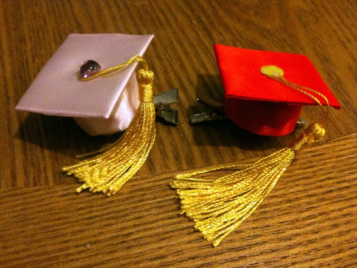 Graduation Hair Clips LOVE