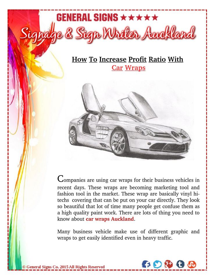 How to Increase Business Profit Ratio With Car Wraps #carwraps #signage