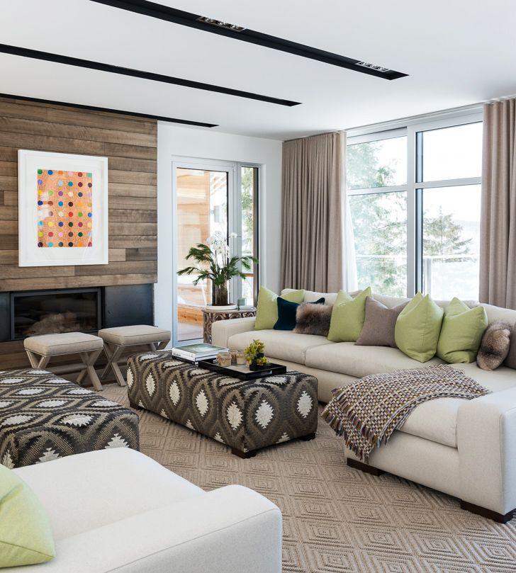 Современный интерьер с элементами стиля шале в Канаде | Пуфик - блог о дизайне интерьера