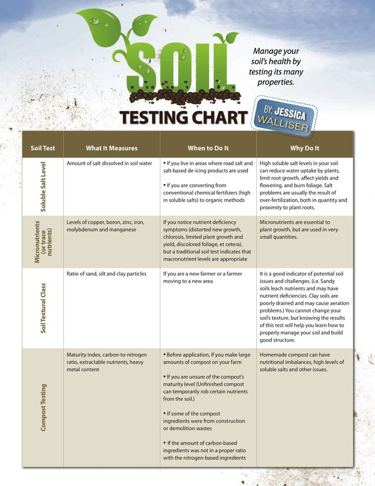 Print Off This Soil Testing Chart As A Handy Reference When Prepping Your  Soil For Growing
