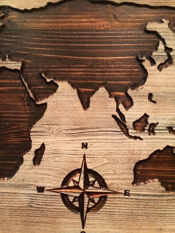 Best 25 world map wall ideas on pinterest world wallpaper carved wooden world map wood wall art world map home by howdyowl gumiabroncs Images