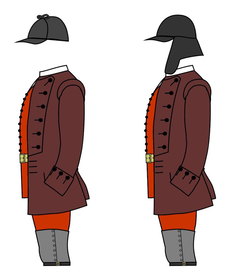 Uniforms of privates of the 80th Regiment of Light Armed Foot (Gage's Light Infantry), 1758.    Although the ranger units were were useful and effective in their own way, it was felt that regular units of light infantry were needed in North America. In 1757-8 Colonel Thomas Gage raised a unit of 500 light infantry at his own expense. They proved useful throughout the war but especially in the suppression of Pontiac's Rebellion in 1763-4