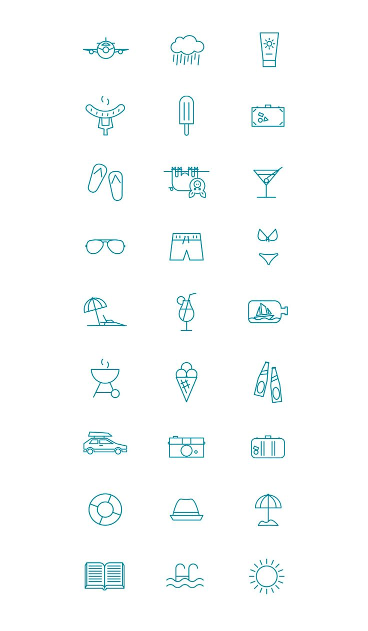 MadeSomething - Summer pictogram