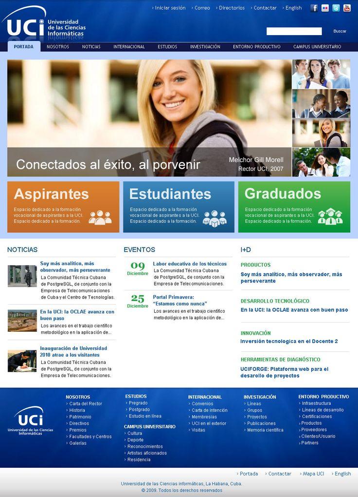 Portal de la Universidad de Ciencias Informáticas