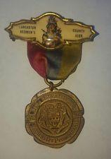 Lancaster County Redmen's Assn Ribbon Badge Medal