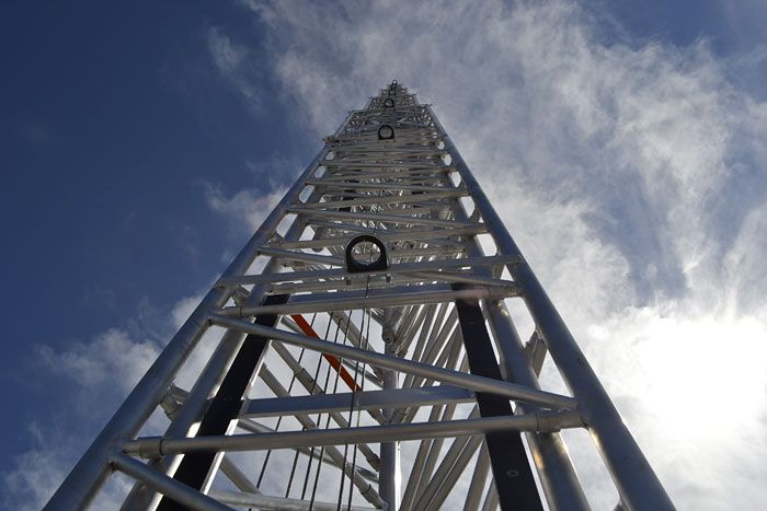 Self supporting antenna towers, mobile telescopic masts, and