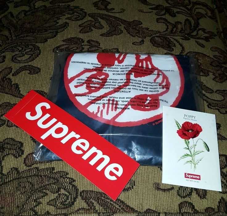 Supreme Molotov tee Navy in SMALL S/S 18 w/Poppy seed pack and Red BOGO  #NAVY #GraphicTee