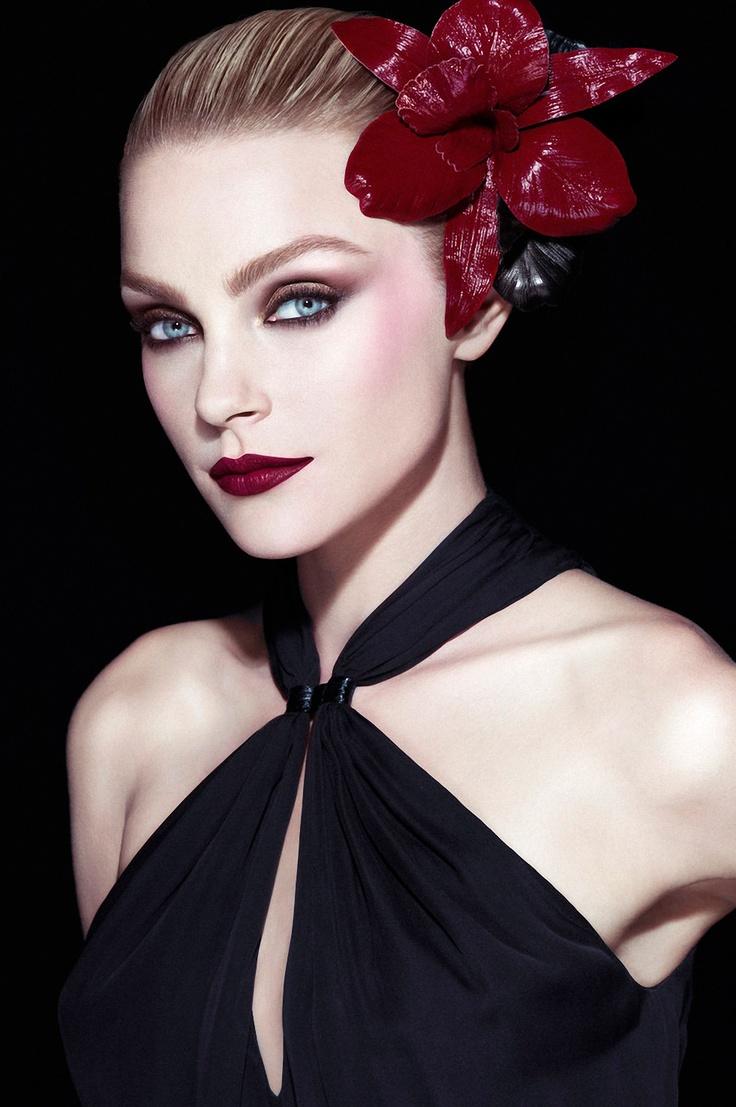 model: Makeup, Jessica Stam, Beautiful, Red Flowers, Red Lips, Covergirl, Hair, Eye, Pat Mcgrath
