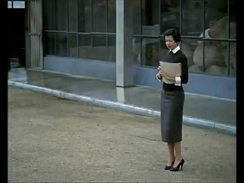 The secretary from the film Mon Oncle.