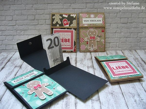 Stampin Up - Weihnachtsgutscheinkarte - Gutscheinkarte - Anleitung - Tutorial - Stempelset Ausgestochen Weihnachtlich  ♥ StempelnmitLiebe