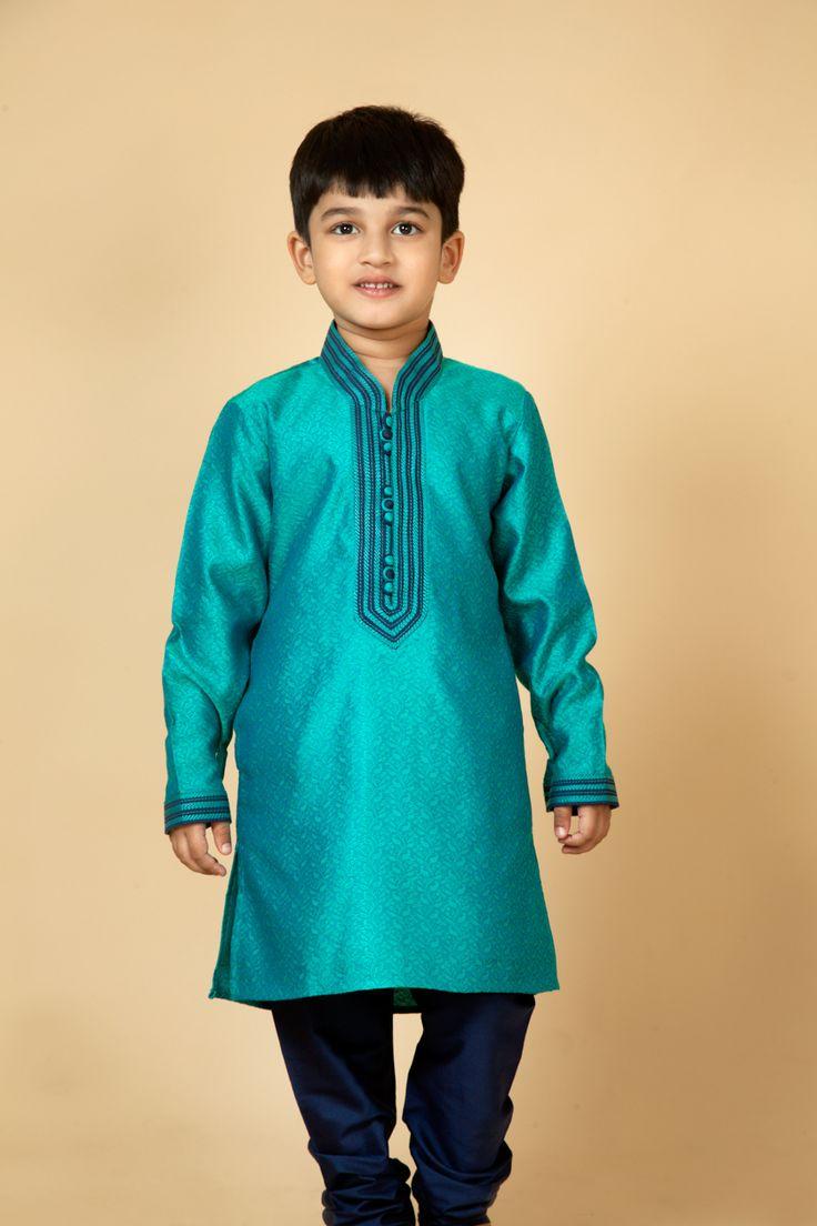 Jamevar kurta churidar embellished with resham thread work. Item number KB15-20