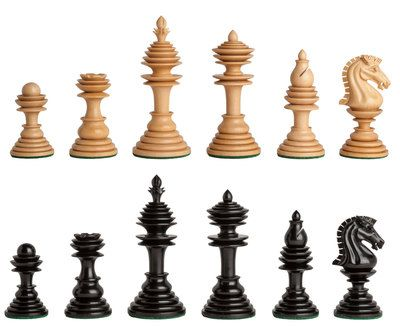 """Shop The Bristol Series Timeless Chess Pieces - 4.5"""" King from Wholesale Chess and find great deals and fast shipping on many wood chess sets!"""