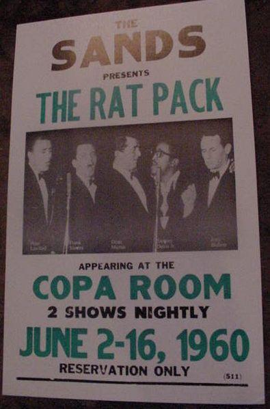 THE RAT PACK 1960 FRANK SINATRA CONCERT POSTER 60S art Sands Las Vegas Copa Room | eBay