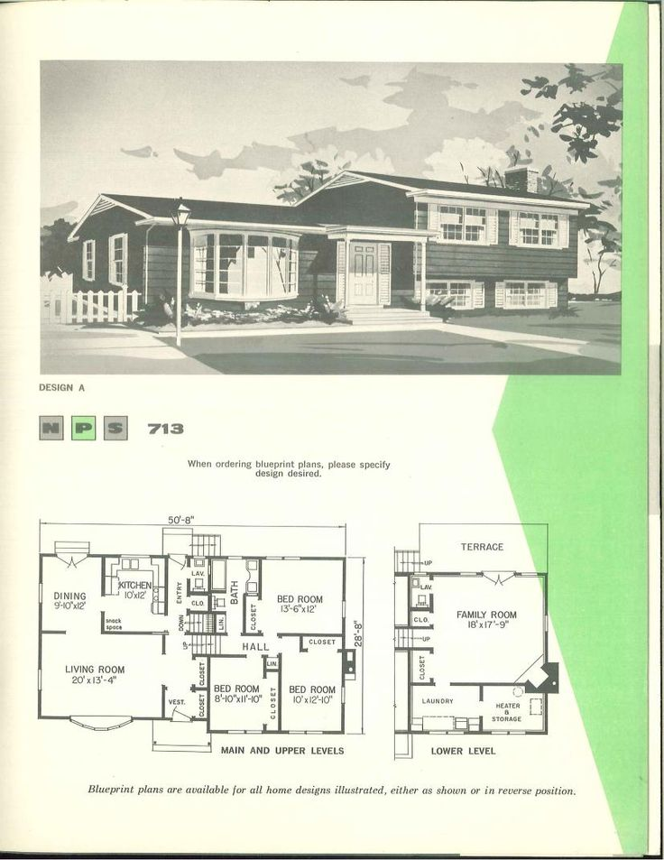 220 best images about vintage house plans 1960s on for 1960s home floor plans