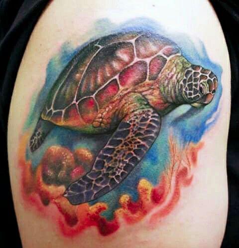 Turtle tattoo design - Nice sea turtle tattoo