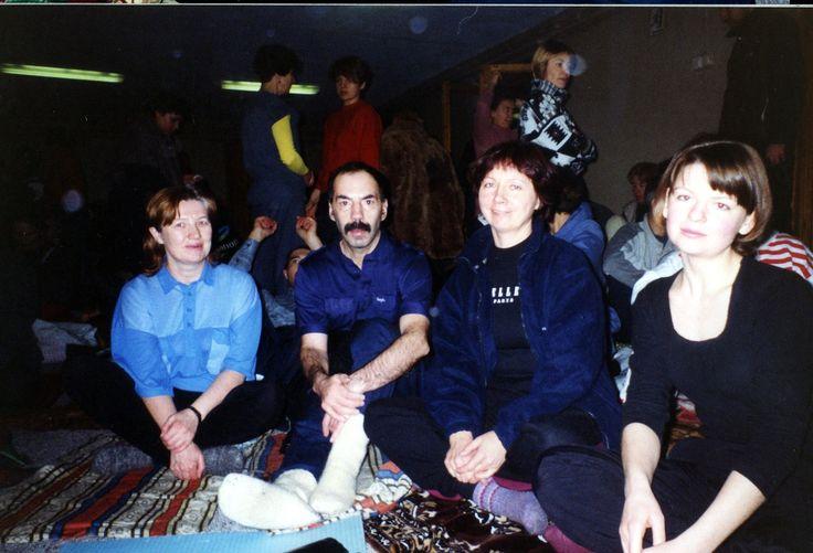 2001 год, Сысерть, первый ретрит на Урале. (фото Уральской ассоциации Чжун Юань Цигун)
