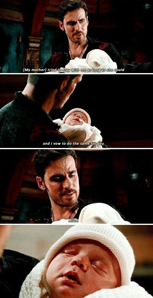 My mother tried to stay with me as long as she could and I vow to do the same for you, Alice / Hook & Alice / 7.07