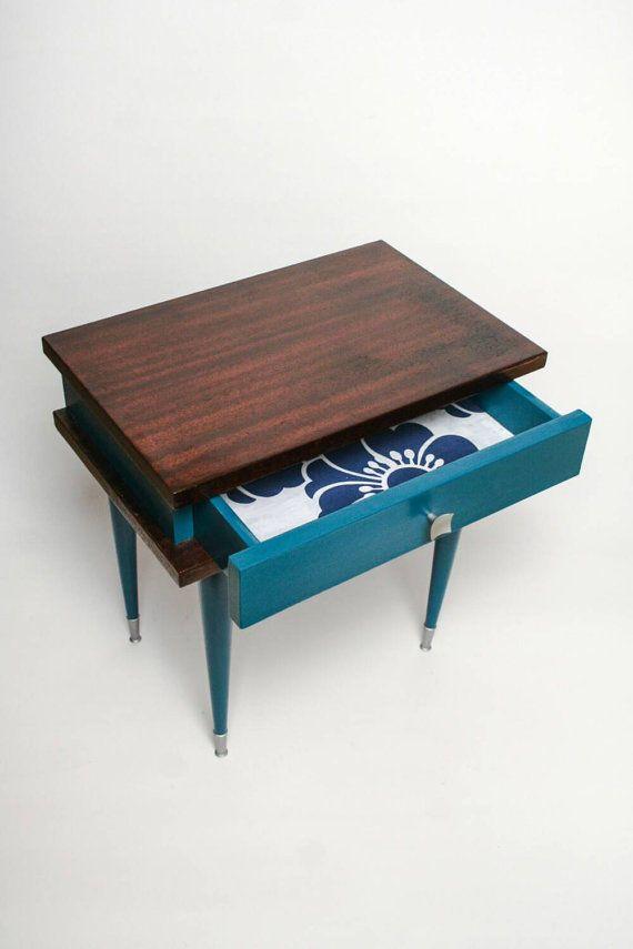 Products Chiné Echoppe: Mid century modern: chevet, table de nuit  Roger 70